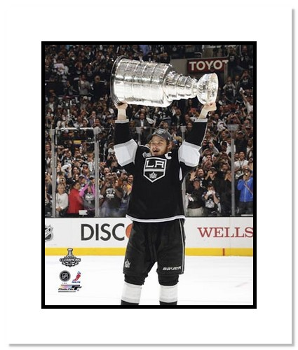 Dustin Brown Los Angeles Kings NHL Double Matted 8x10 Photograph Holding Stanley Cup