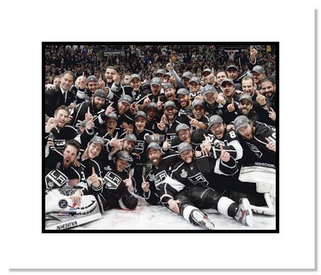 2012 Los Angeles Kings NHL Double Matted 8x10 Photograph Stanley Cup Champions Team Celebration