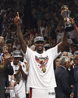 LeBron James 2012 Miami Heat NBA 8x10 Photograph NBA Champions MVP Trophy