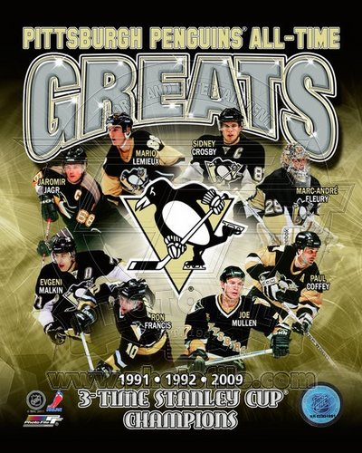Pittsburgh Penguins All Time Greats NHL 8x10 Photograph Champions Collage