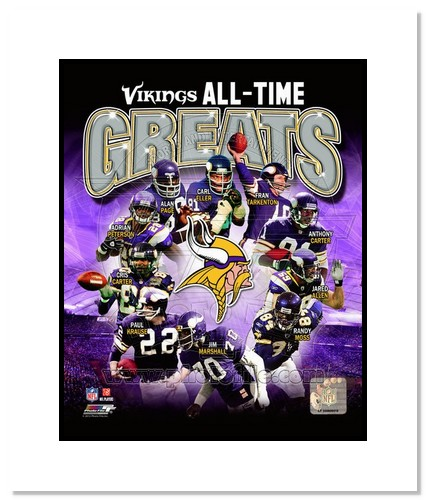 Minnesota Vikings All Time Greats NFL Double Matted 8x10 Photograph Champions Collage
