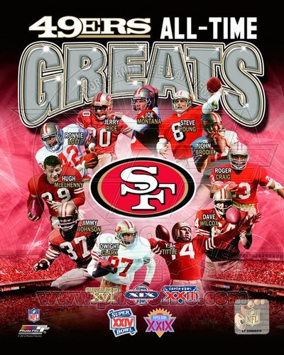 San Francisco 49ers All Time Greats NFL 8x10 Photograph Champions Collage