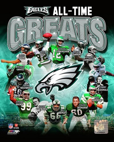 Philadelphia Eagles All Time Greats NFL 8x10 Photograph Champions Collage