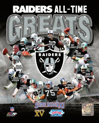 Oakland Raiders All Time Greats NFL 8x10 Photograph Champions Collage