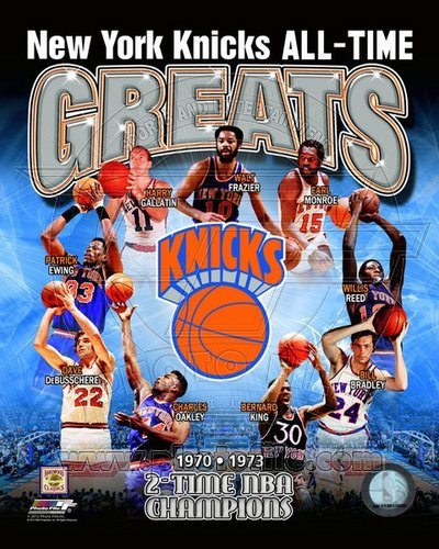 New York Knicks All Time Greats MLB 8x10 Photograph Champions Collage