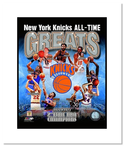 New York Knicks All Time Greats MLB Double Matted 8x10 Photograph Champions Collage