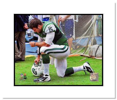 Tim Tebow New York Jets NFL Double Matted 8x10 Photograph Tebowing
