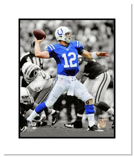 Andrew Luck Indianapolis Colts NFL Double Matted 8x10 Photograph Spotlight