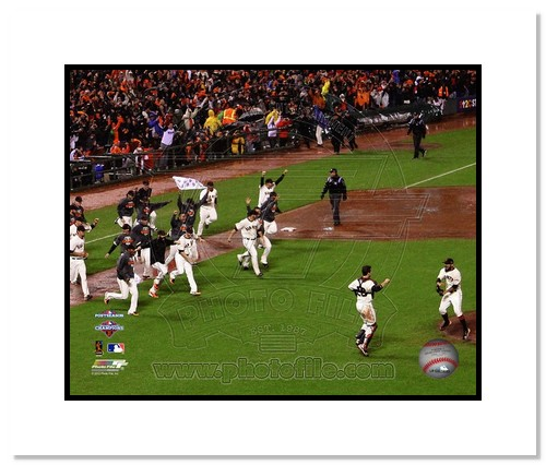 2012 San Francisco Giants MLB Double Matted 8x10 Photograph NLCS Champions Celebration