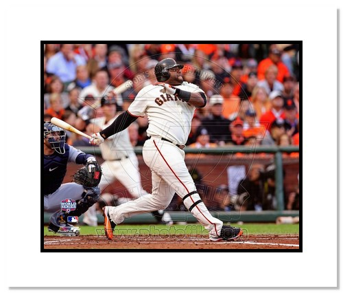 Pablo Sandoval San Francisco Giants MLB Double Matted 8x10 Photograph 2012 World Series Game 1 HR
