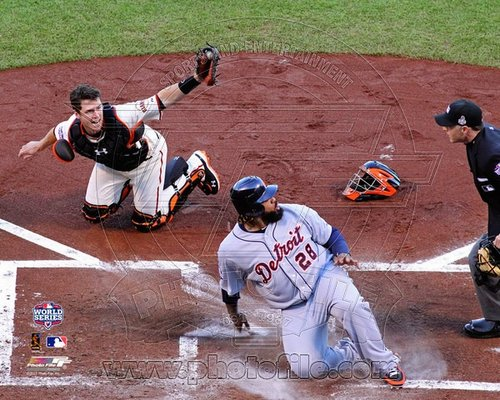 Buster Posey San Francisco Giants MLB 8x10 Photograph 2012 World Series Tagging Prince Fielder Out