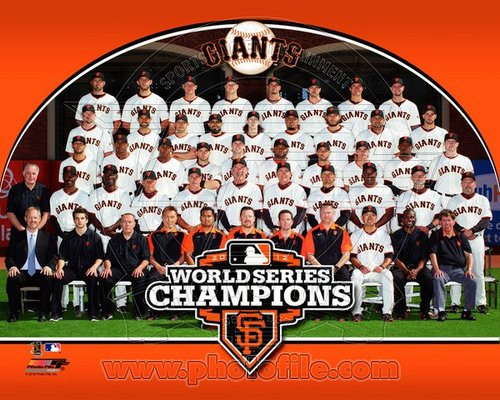 2012 San Francisco Giants MLB 8x10 Photograph 2012 World Series Champions Team Sitdown