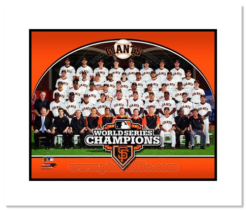 2012 San Francisco Giants MLB Double Matted 8x10 Photograph 2012 World Series Champions Team Sitdown
