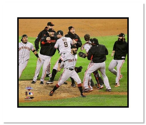 2012 San Francisco Giants MLB Double Matted 8x10 Photograph 2012 World Series Celebration #2