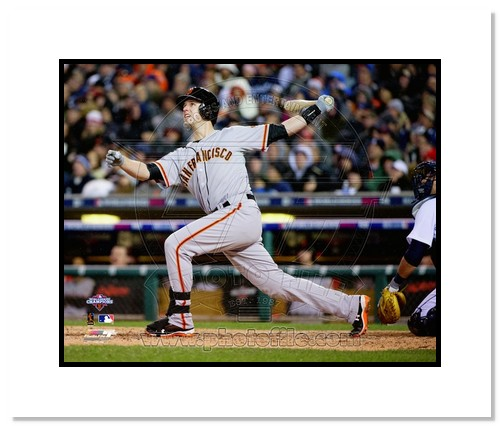 Buster Posey San Francisco Giants MLB Double Matted 8x10 Photograph 2012 World Series Home Run