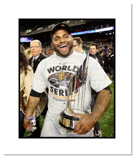 Pablo Sandoval San Francisco Giants MLB Double Matted 8x10 Photograph 2012 World Series MVP