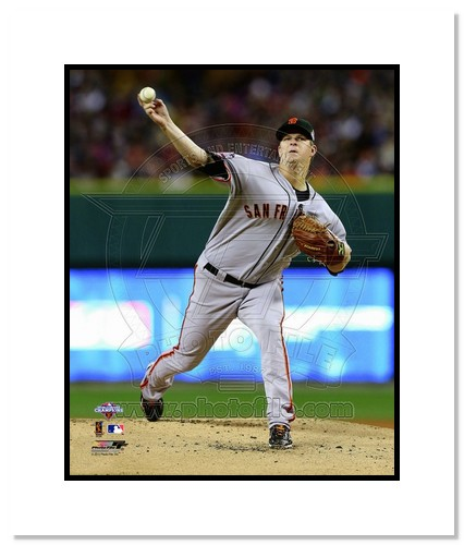 Matt Cain San Francisco Giants MLB Double Matted 8x10 Photograph 2012 World Series Pitching