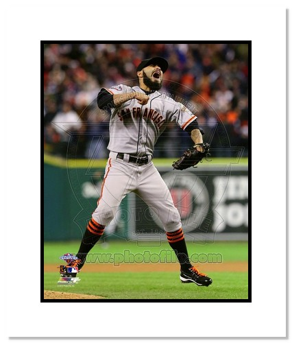 Sergio Romo San Francisco Giants MLB Double Matted 8x10 Photograph 2012 World Series Celebrating