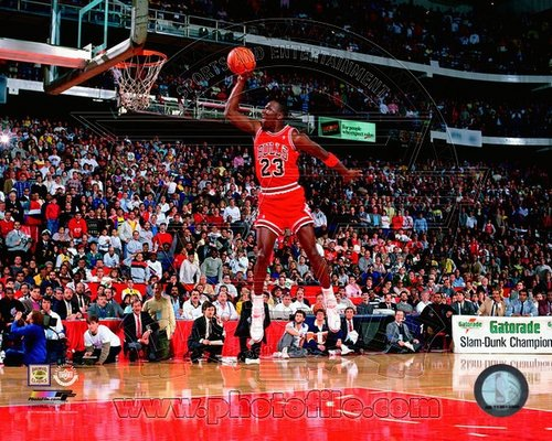 Michael Jordan Chicago Bulls NBA 8x10 Photograph Slam Dunk Champion