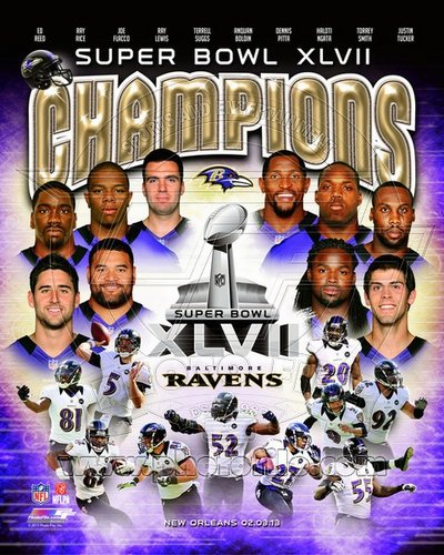 2012 Baltimore Ravens NFL 8x10 Photograph Super Bowl XLVII Champions Collage