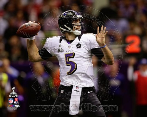 Joe Flacco Baltimore Ravens NFL 8x10 Photograph Super Bowl XLVII Throwing