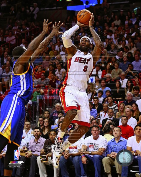 LeBron James Miami Heat NBA 8x10 Photograph Jumpshot White Jersey