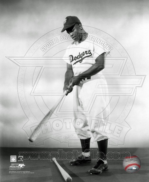 Jackie Robinson Brooklyn Dodgers MLB 8x10 Photograph First Day Dugout