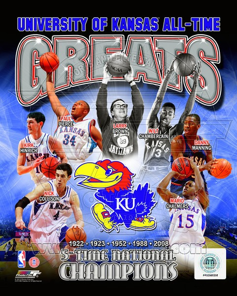 Kansas Jayhawks All Time Greats NCAA 8x10 Photograph Champions Collage