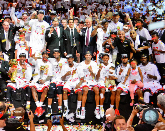 2013 Miami Heat NBA 8x10 Photograph 2013 NBA Finals Champs Team Celebration