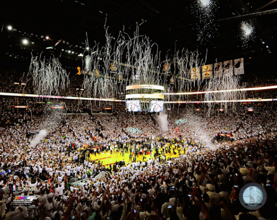 2013 Miami Heat NBA 8x10 Photograph 2013 NBA Finals Champs Team Arena