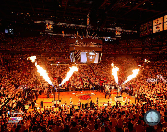 2013 Miami Heat NBA 8x10 Photograph 2013 NBA Finals Champs Pre-Game Arena
