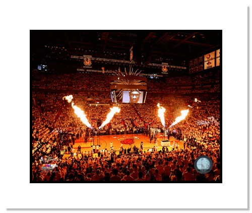 2013 Miami Heat NBA Double Matted 8x10 Photograph 2013 NBA Finals Champs Pre-Game Arena