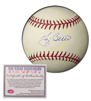 Yogi Berra New York Yankees Hand Signed Rawlings MLB Baseball