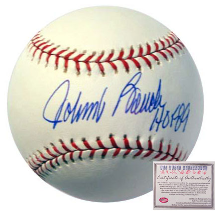Johnny Bench Cincinnati Reds Hand Signed Rawlings MLB Baseball with HOF 89 Inscription
