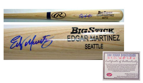 Edgar Martinez Seattle Mariners MLB Hand Signed Name Model Baseball Bat