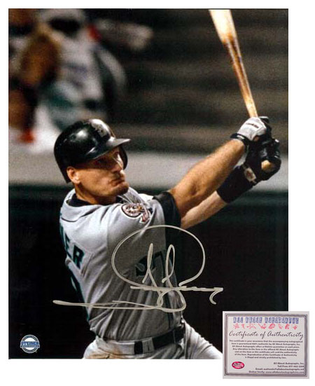 Jay Buhner Seattle Mariners MLB Hand Signed 16x20 Photograph HR Swinging