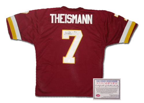 Joe Theismann Washington Redskins NFL Hand Signed Authentic Style Home Red Football Jersey