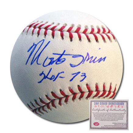 Monte Irvin San Francisco Giants Hand Signed Rawlings MLB Baseball with HOF 73 Inscription