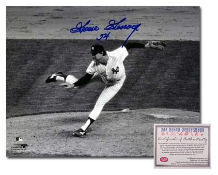 Goose Gossage New York Yankees MLB Hand Signed 8x10 Photograph Pitching Black and White