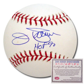 Jim Palmer Baltimore Orioles Hand Signed Rawlings MLB Baseball with HOF 90 Inscription