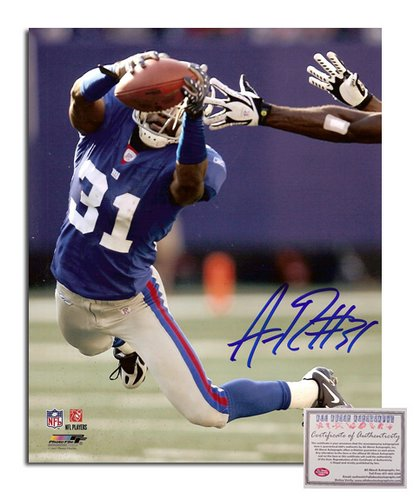 Aaron Ross NFL New York Giants Hand Signed 8x10 Photograph Catching