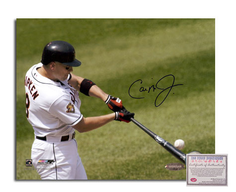 Cal Ripken Jr Baltimore Orioles MLB Hand Signed 16x20 Photograph Batting