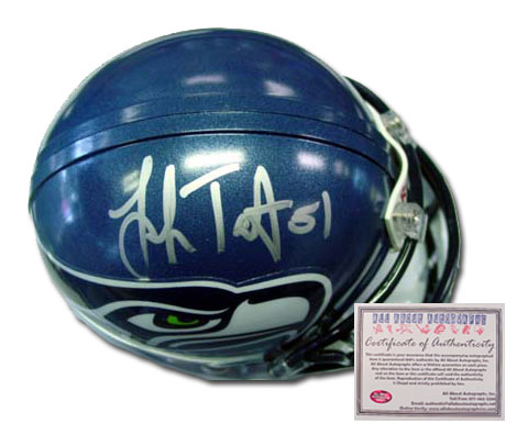 Lofa Tatupu Seattle Seahawks NFL Hand Signed Mini Helmet