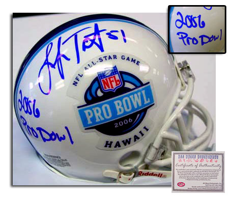 Lofa Tatupu Seattle Seahawks NFL Hand Signed 2006 Pro Bowl Mini Helmet with Inscription