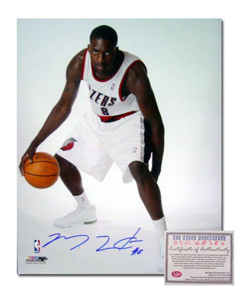Martell Webster Portland Trailblazer NBA Hand Signed 16x20 Photograph White Jersey