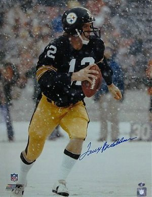 Terry Bradshaw Pittsburgh Steelers NFL Hand Signed 16x20 Photograph Snow
