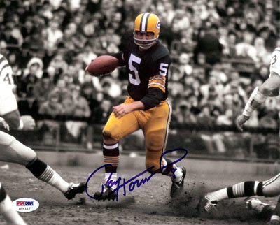 Paul Hornung Green Bay Packers NFL Hand Signed 8x10 Photo - Running