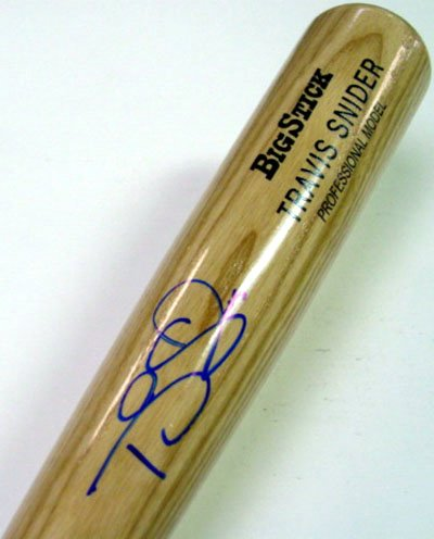 Travis Snider Toronto Blue Jays MLB Hand Signed Rawlings Big Stick Bat