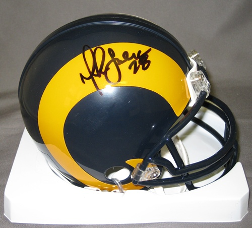 Marshall Faulk St Louis Rams NFL Hand Signed Mini Throwback Football Helmet
