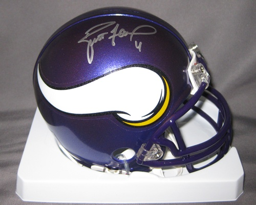 Brett Favre Minnesota Vikings NFL Hand Signed Mini Football Helmet
